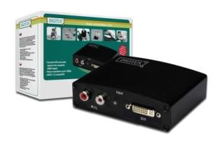 Converter DVI to HDMI, 1920x1080p FHD, with audio (2xRCA)