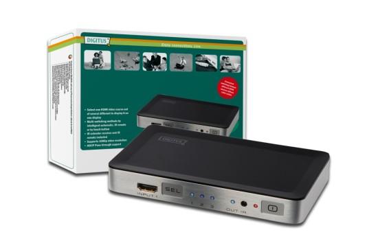 Digitus HDMI přepínač 3 vstupy => 1 výstup