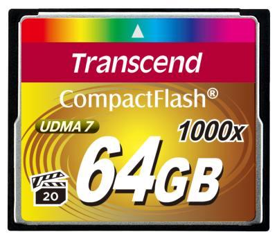Transcend 64GB CF (1000X) paměťová karta