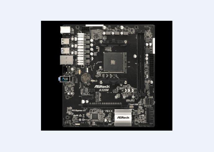ASRock MB Sc AM4 A320M, AMD A320, 2x DDR4, VGA, mATX
