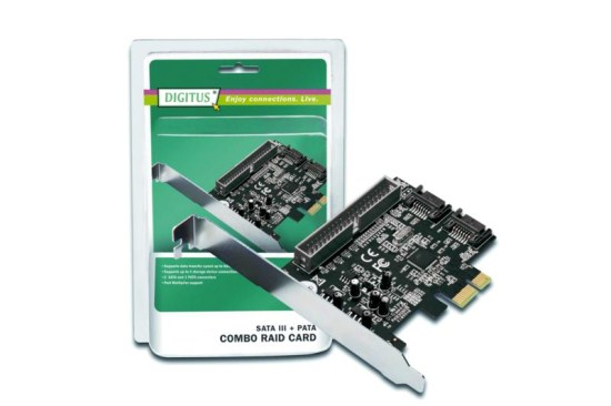Řadič PCI-E Digitus pro SATA III 600 / PATA, 5 LGW Chip: 88SE9128