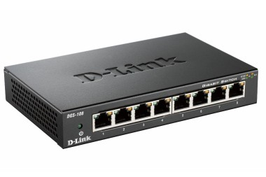 D-Link DGS-108/E 8-port 10/100/1000 Gigabit Metal Housing Desktop Switch