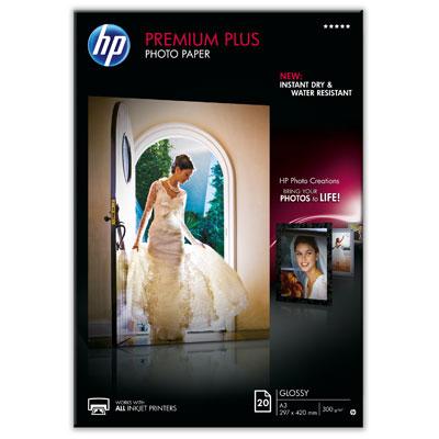 HP CR675A Premium Plus Glossy Photo Paper-20 sht/A3/297 x 420 mm, 300g/m2