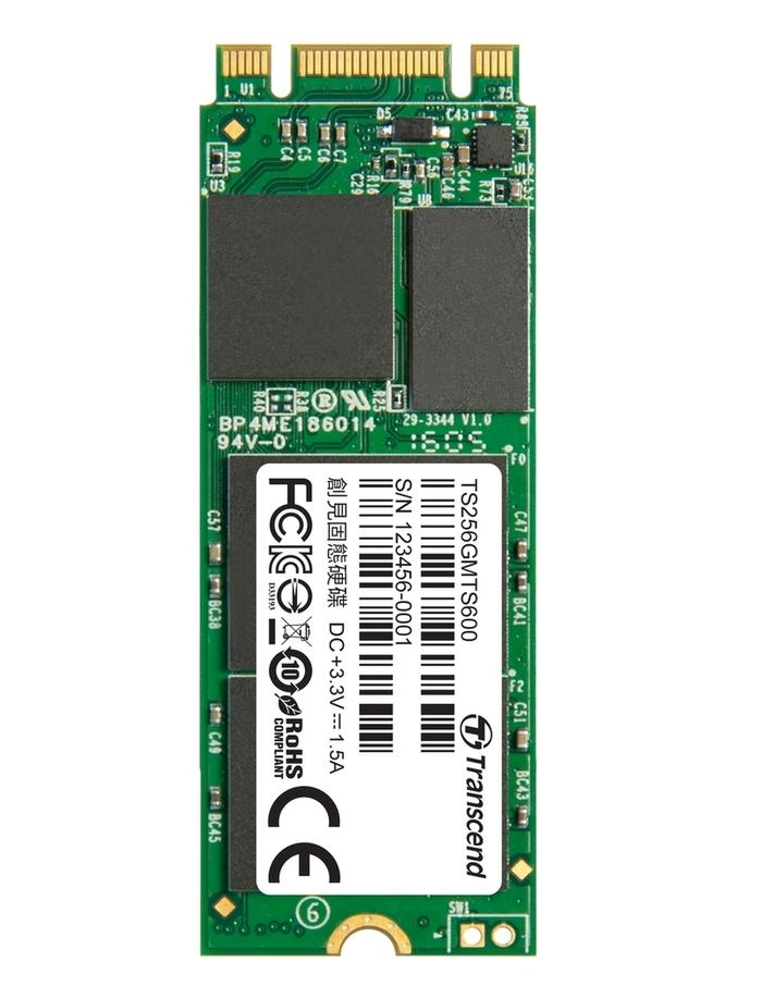 Transcend SSD M.2 2260 SATA 6GB/s, 256GB, MLC (čtení/zápis; 550/320MB/s)