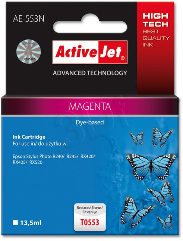 Inkoust ActiveJet AE-553N | Magenta | 13,5 ml | Chip | Epson T0553