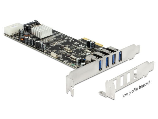 Delock PCI Express x4 Card > 4 x external USB 3.0 Quad Channel