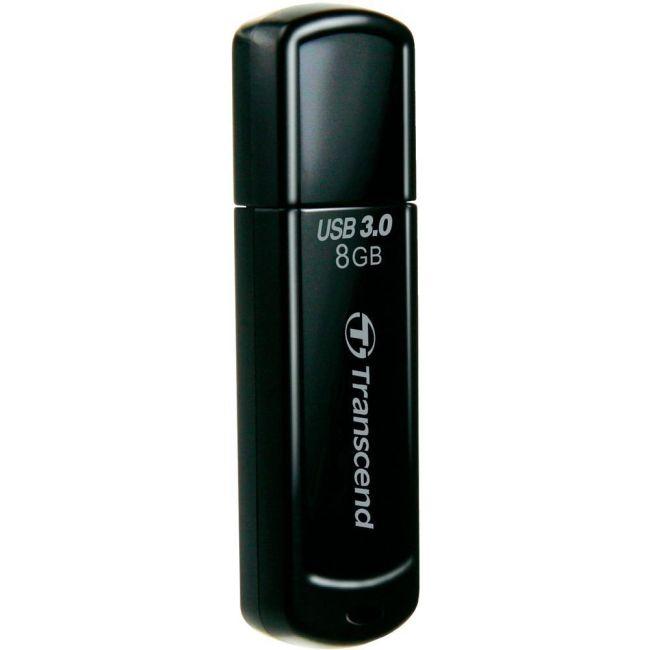 TRANSCEND USB Flash Disk JetFlash®700, 8GB, USB 3.0, Black (R/W 55/5 MB/s)