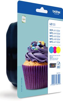 LC-123RBWBP (inkoust multipack - 3 barvy C/M/Y)