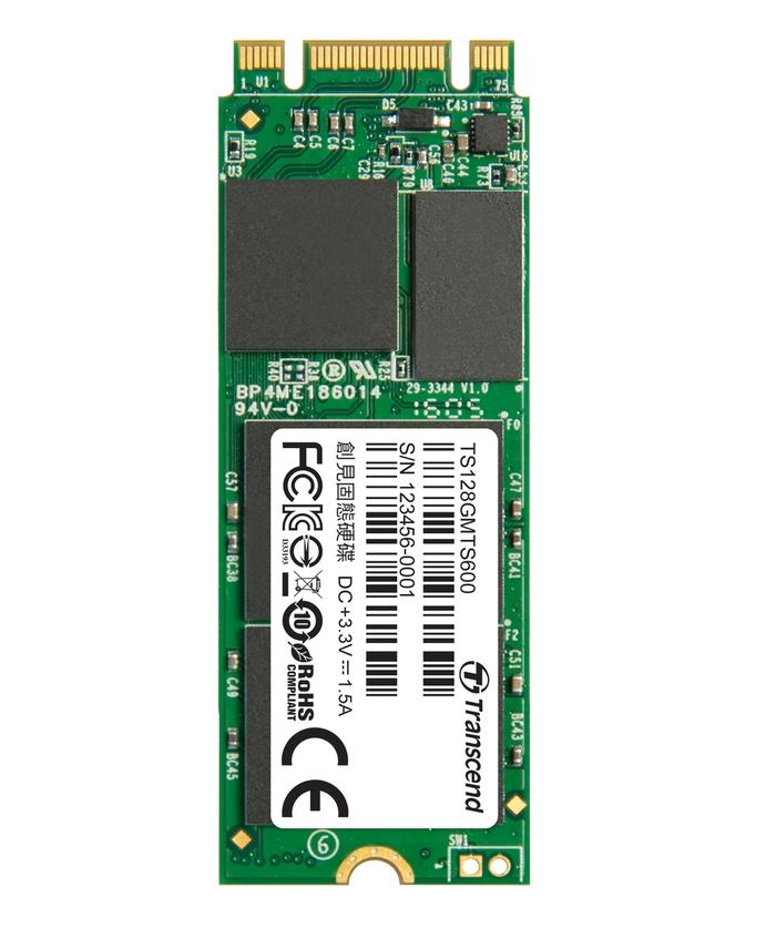 TRANSCEND MTS600 128GB SSD disk M.2 2260, SATA III (MLC)