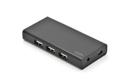 Ednet USB 2.0 hub 7-portů černý s napájecím zdrojem ( 5V , 3,5A )