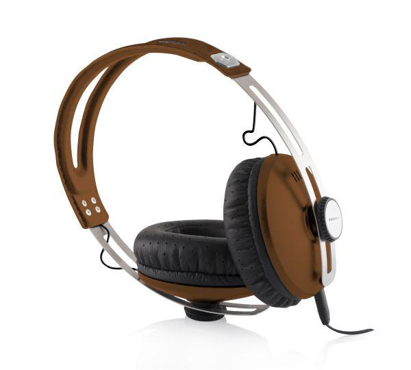 Modecom sluchátka MC-450 ONE BROWN mikrofon a ovládání hlasitosti na kabelu