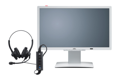 Fujitsu 24´´ P24-8 LED IPS 1920x1080/20M:1/5ms/250cd/DVI/DP/3xUSB/repro/ZBD