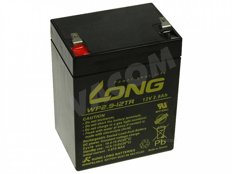 Long 12V 2,9Ah olověný akumulátor F1