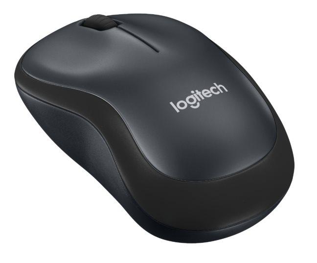Logitech myš Wireless M220 Silent, optická, bezdrátová, 3 tlačítka, černá