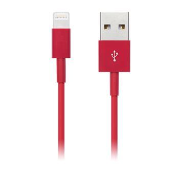 CONNECT IT COLORZ kabel Apple Lightning - USB, 1m, červený