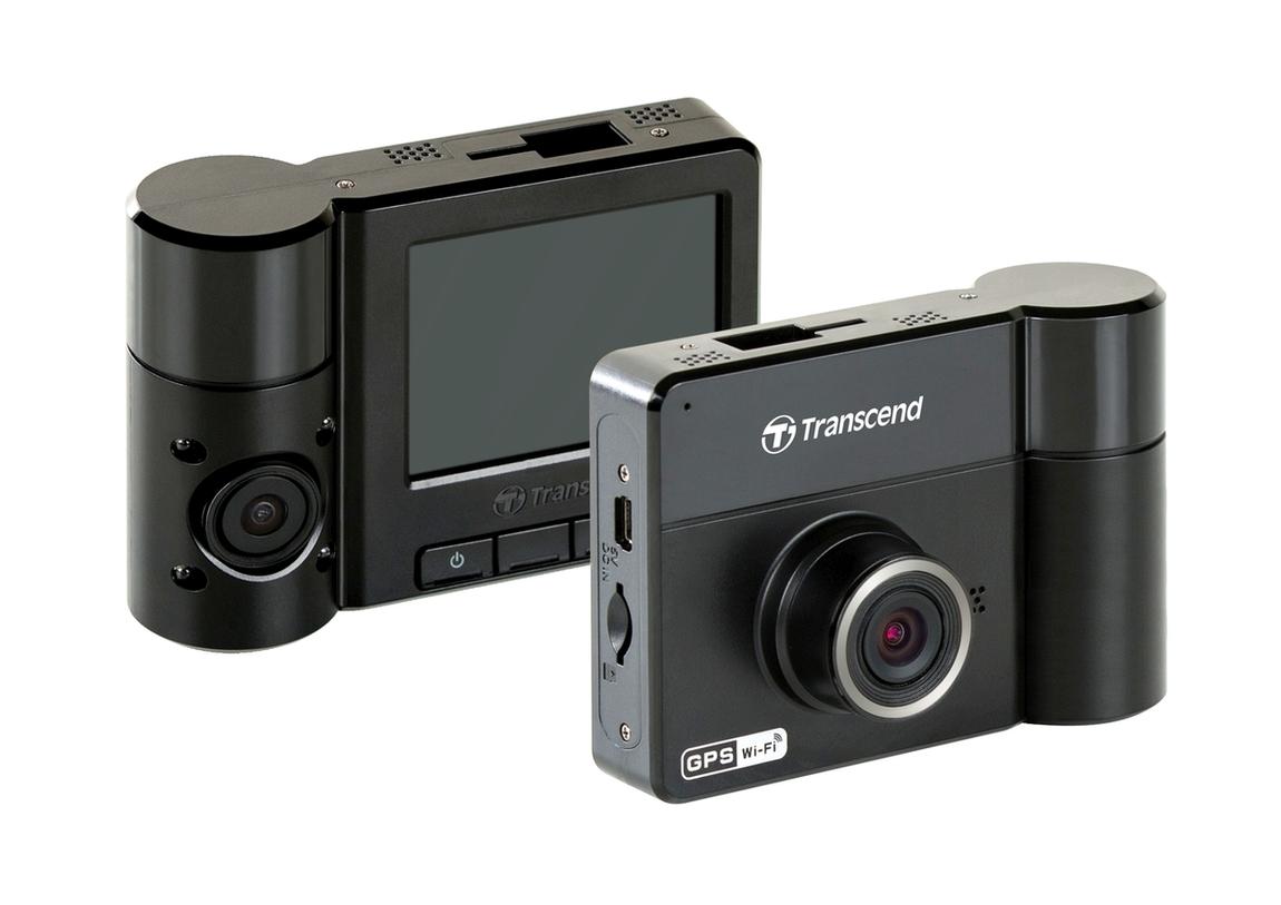 Transcend kamera do auta, 32GB DrivePro 520, 2.4 '' LCD, Dual-lens, GPS, WiFi