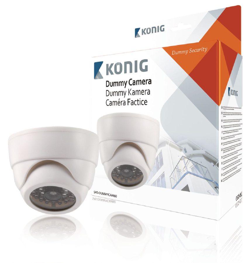 König atrapa interiérové kopulovité kamery s infračervenou blikající LED
