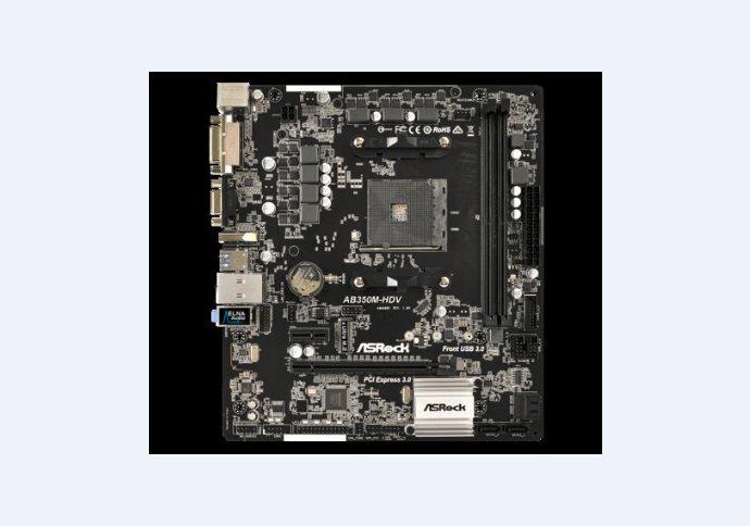 ASROCK MB AB350M-HDV (AM4, amd B350, 2xDDR4, PCIE, 4xSATA3 + M.2, VGA +DVI+HDMI, USB3.0, 7.1, GLAN, mATX)