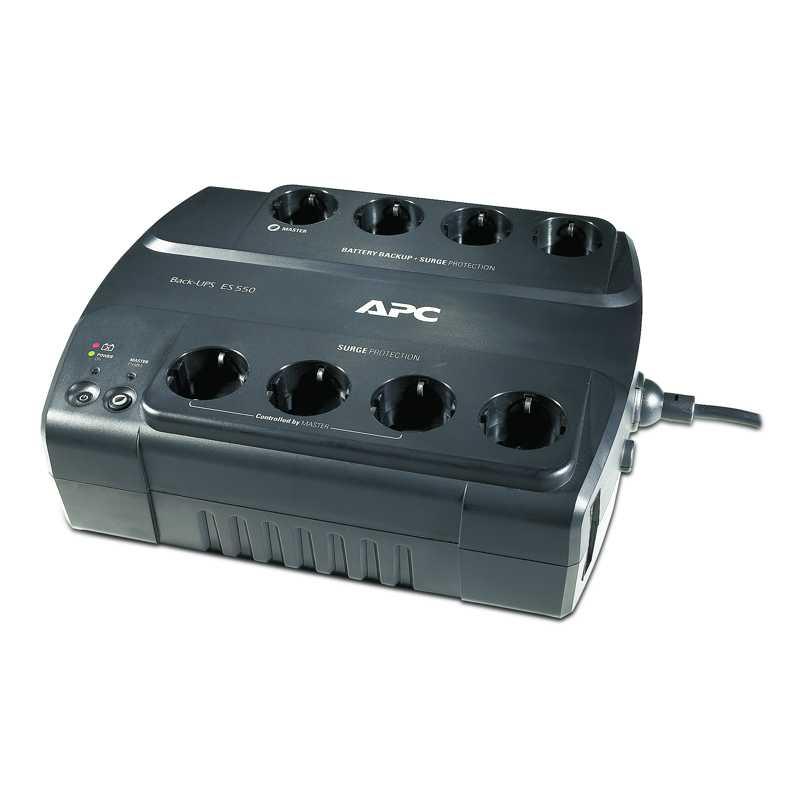 APC Stromsparende APC-Back-UPS ES 8 Ausgang 550 VA, 230 V, CEE 7/7
