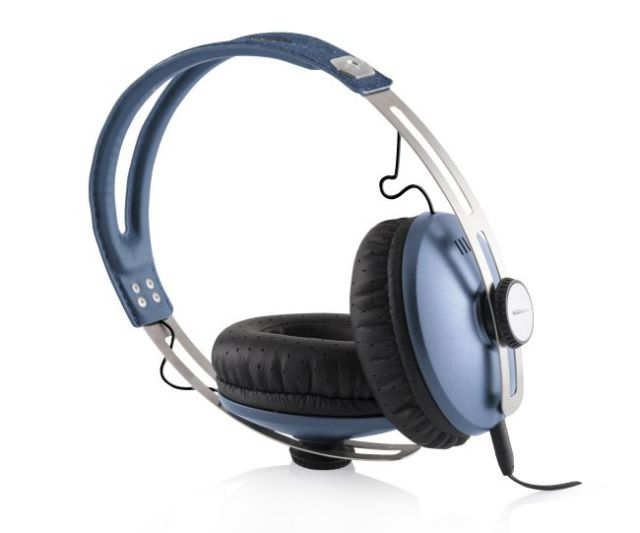 Modecom sluchátka MC-450 ONE LIGHT BLUE mikrofon a ovládání hlasitosti na kabelu