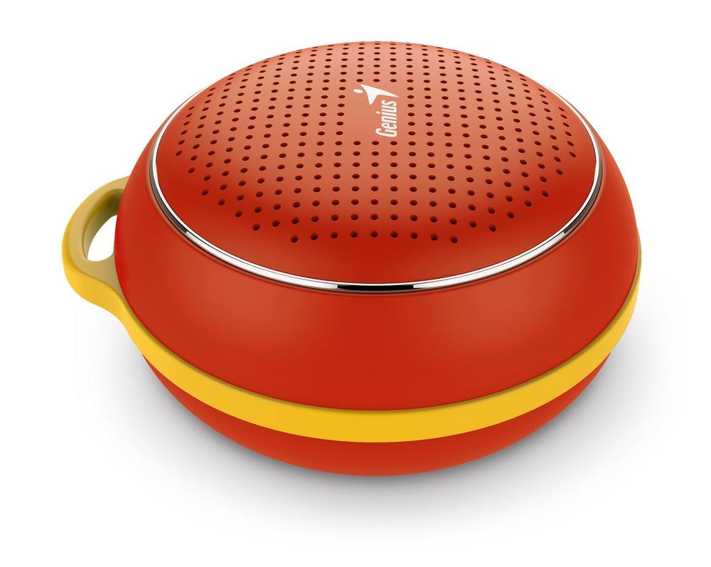 GENIUS repro SP-906BT/ 3W/ Bluetooth 4.1/ dobíjecí/ červený
