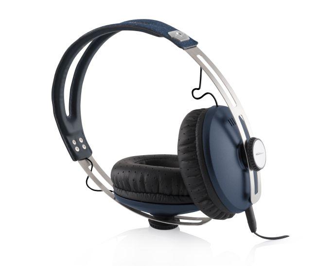 Modecom sluchátka MC-450 ONE BLUE mikrofon a ovládání hlasitosti na kabelu