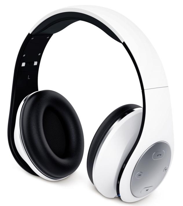 GENIUS headset - HS-935BT/sluchátka s mikrofonem/ Bluetooth 4.1/ dobíjecí/ bílé