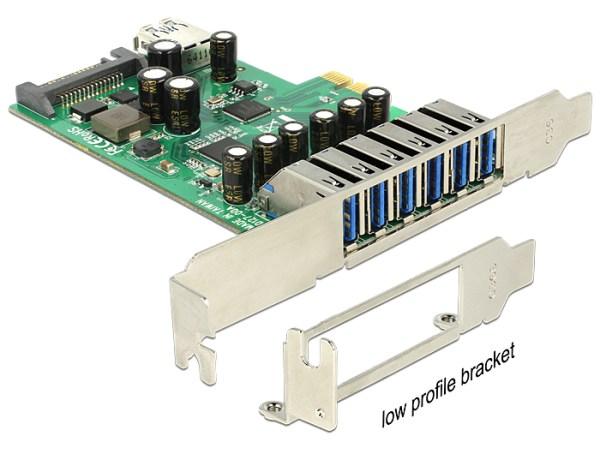 Delock PCI Express Card > 6 x external + 1 x internal USB 3.0