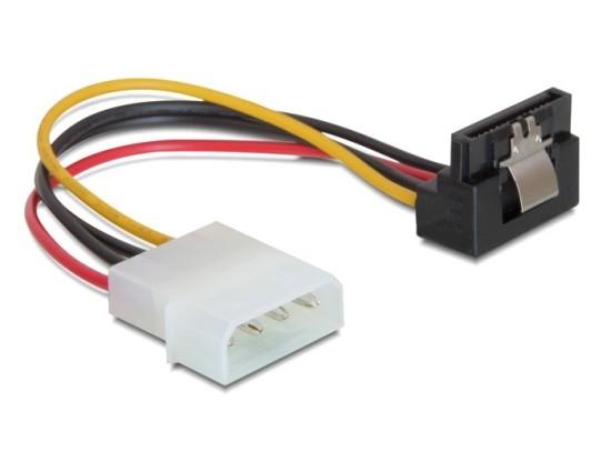 Delock napájecí kabel SATA HDD s kovovým kliprem MOLEX (M)->SATA (F), 15cm