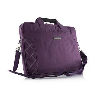 """Modecom brašna GREENWICH na notebooky do velikosti 15,6"""", fialová, dámská, kovové přezky"""