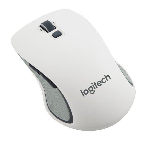 Logitech myš Wireless Mouse M560, laserová, unifying přijímač, 5 tlačítek, bílá