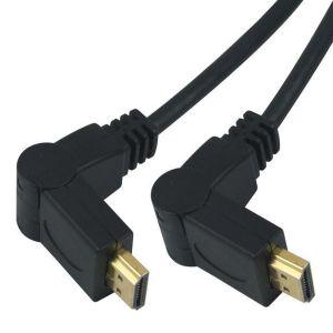 PremiumCord Kabel HDMI A - HDMI A M/M 15m, rotační