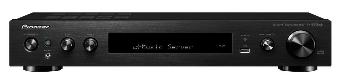 Pioneer slim audio přijímač 2.0 se sítí černý