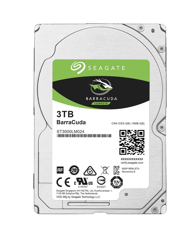 "Seagate BarraCuda 2.5"" HDD, 3TB, 2.5"", SATAIII, 128MB cache, 5.400RPM"