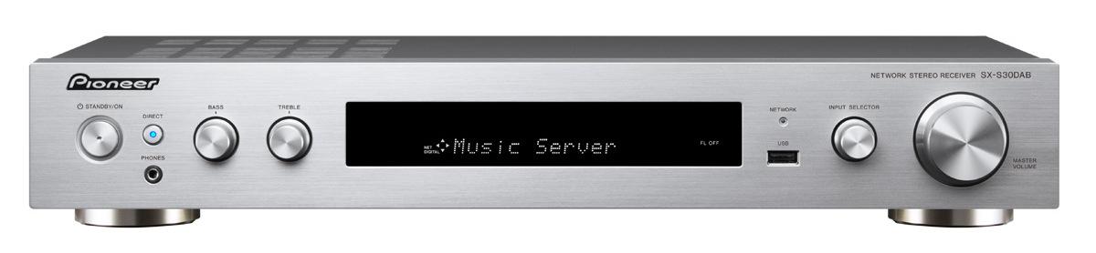 Pioneer slim audio přijímač 2.0 se sítí stříbrný
