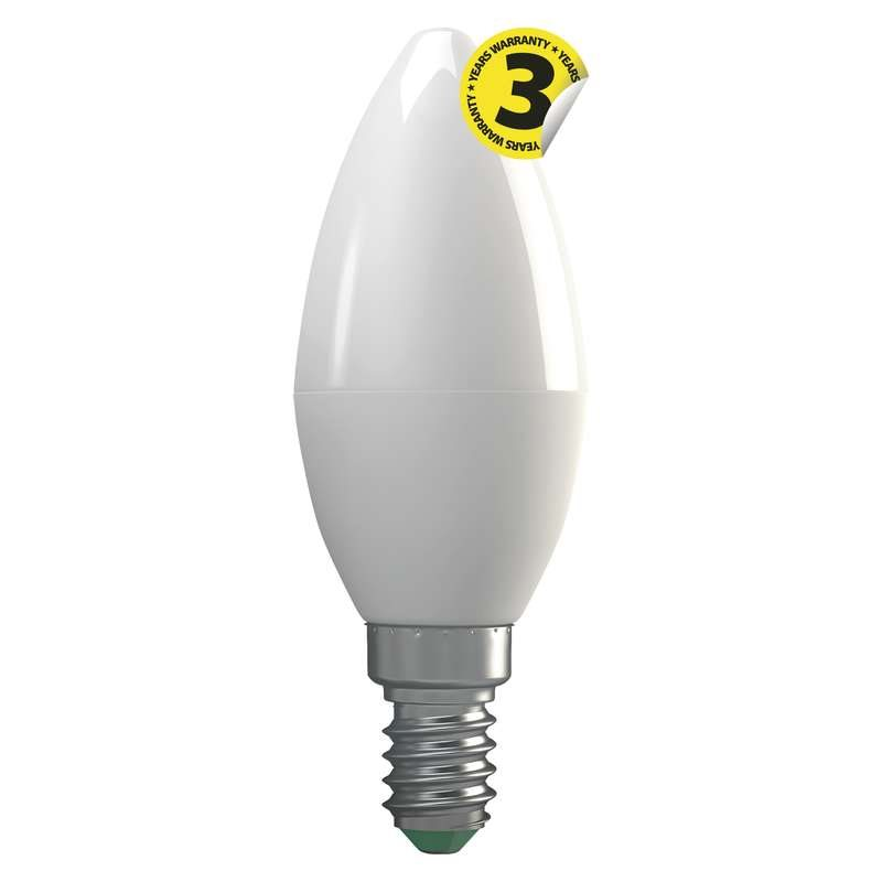 Emos LED žárovka CANDLE, 4W/30W E14, WW teplá bílá, 330 lm, Classic A+