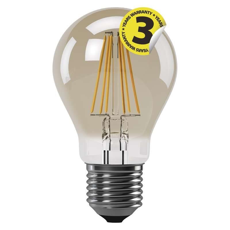Emos LED žárovka Classic A60, 4W/34W E27, WW+ teplá bílá+, 380 lm, Filament Vintage A++