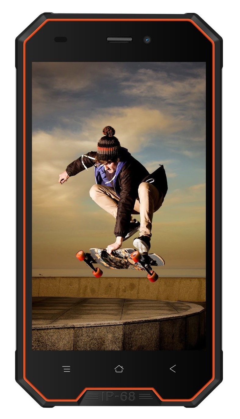 "iGET Blackview GBV4000 Orange 4,7"" - IPS, Quad-Core, 1GB+8GB, DualSIM, 3G, IP68, Android 7, 3680mAh"