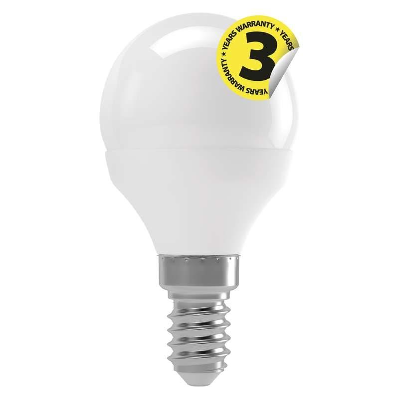 Emos LED žárovka MINI GLOBE, 4W/30W E14, WW teplá bílá, 330 lm, Classic A+