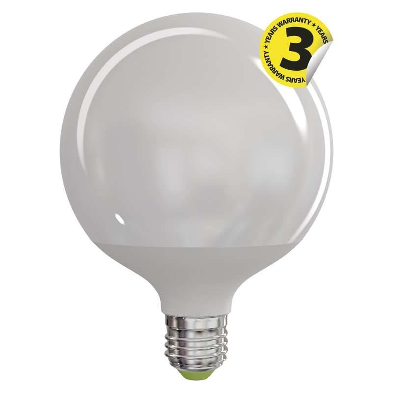 Emos LED žárovka Globe G120, 18W/100W E27, WW teplá bílá, 1521 lm, Classic A+