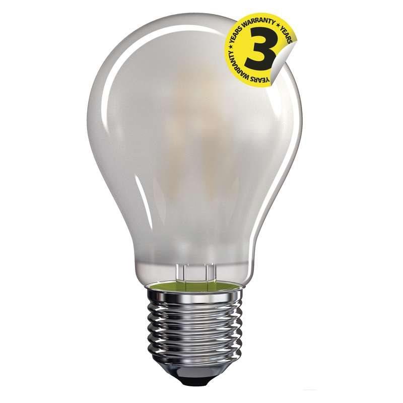 Emos LED žárovka Classic A60, 6.5W/60W E27, WW teplá bílá, 806 lm, Filament matná A++