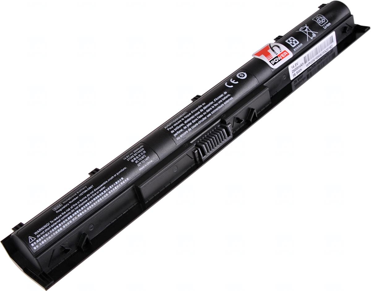 Baterie T6 power HP Pavilion 14-abxxx, 15-abxxx, 15-anxxx, 17-gxxx, 2600mAh, 38,5Wh, 4cell