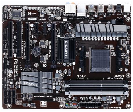 GIGABYTE MB Sc AM3+ 970A-UD3P, AMD 970, 4xDDR3
