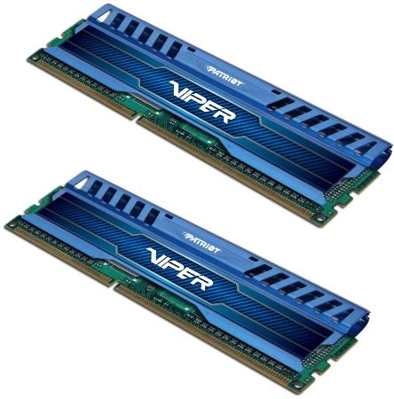 8GB DDR3-1600Mhz Patriot Viper3, kit modrý, CL9