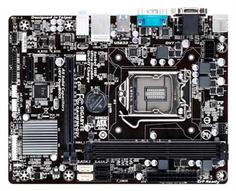 GIGABYTE MB Sc LGA1150 H81M-D2V, Intel H81, 2xDDR3, VGA, mATX