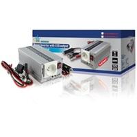 HQ INV300WU24F - Měnič napětí 24V/230V, 300 W, USB