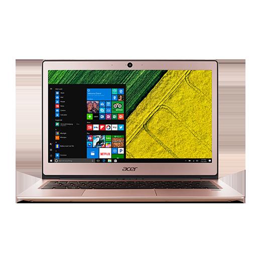 "Acer Swift 1 (SF113-31-P1SQ) Pentium® Quad Core N4200/4GB+N/A/128GB+N/A/13.3""FHD IPS LCD/HD Graphics/W10 Home/Pink"