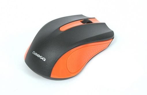 OMEGA myš OM-05O, 1000DPI, černo/oranžová