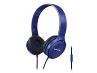 Panasonic stereo sluchátka RP-HF100ME-A, 3,5 mm jack, modrá