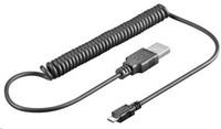PREMIUMCORD Kabel USB 2.0 A - Micro B propojovací 1m, kroucený (M/M)